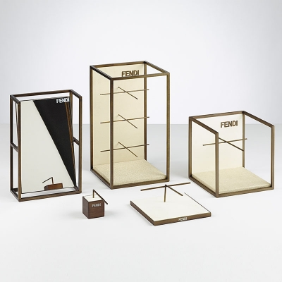 CM01 CUSTOM HIGH END WOODEN MAKEUP DISPLAY STAND